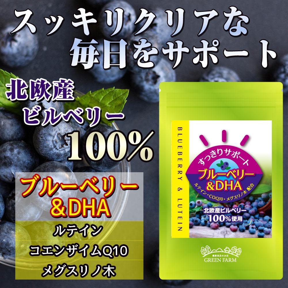 瞳 スッキリ 目 ルテイン 北欧産 ビルベリー ブルーベリー DHA サプリ サプリメント メグスリノキ コエンザイムQ10 CoQ10 100%